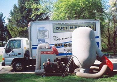 air duct cleaning truck from Duct Masters in Chicago